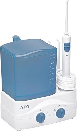 AEG MD 5613 - Irrigador dental, 3 niveles de regulación, 46 W, color blanco y azul