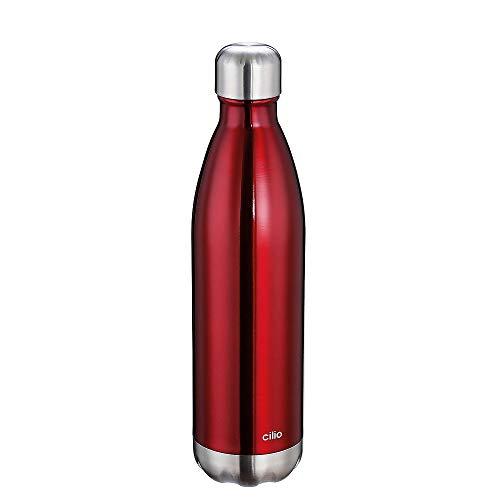 Cilio Elegante Isolierflasche, Edelstahl, Schwarz, One Size