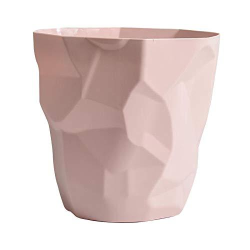 Baoblaze Mülleimer Papier Abfall Müll Recycling Papierkorb Ohne Deckel Müll Room Mülleimer Müllabfallbehälter Abfall Bin - Rosa Große