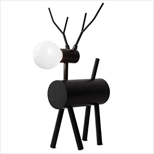 WEI-LUONG Nórdica Moderna Minimalista Dormitorio Personalidad Estudio de Noche Lámpara de Mesa Negro Hierro Forjado Ciervos lámpara de Escritorio Creativa Luz LED