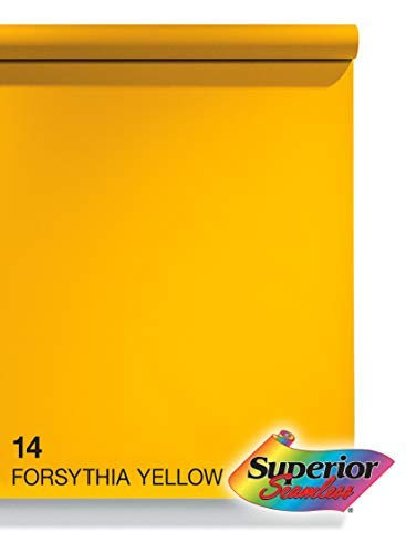 Superior Seamless Photography Background Paper, 14 Forsythia Yellow (53 inches Wide x 18 feet Long)
