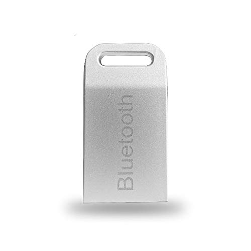AMZSELLER Bluetooth 4 unids USB Auxiliar Auxiliar Auxiliar Audio Audio Adapter TRANSMITTE para EL Sistema DE MP3 Player Hogar estéreo (Color : Mini Silver)
