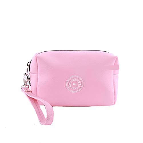 Startup make-up tas voor dames van rubber, met logo, eenheidsmaat, kleur: roze