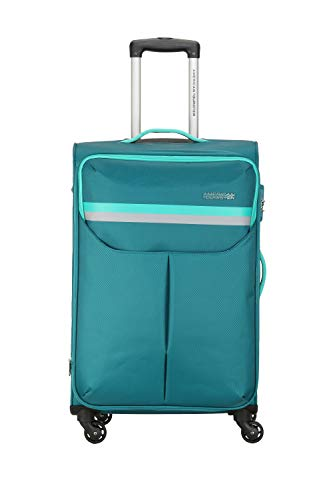 American Tourister Detroit Polyester 55 cms Teal Softsided Cabin Luggage (FK0 (0) 11 001)