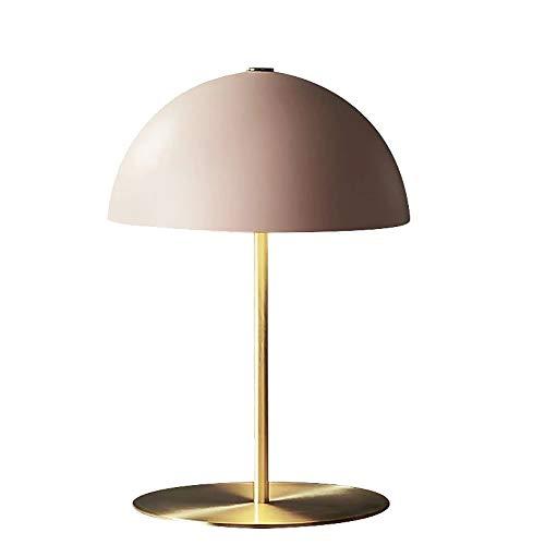 DC Wesley Personalidad creativa rosa seta cabeza pantalla cobre oro lámpara cuerpo dormitorio dormitorio sala de estar hotel lámpara mesa 36 * 50 cm