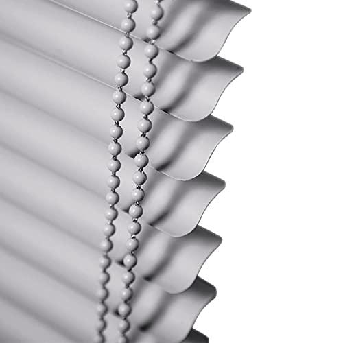 HYDT Persianas Persianas PVC Gris para Dormitorio/Terraza/Estudios, Persianas Impermeables para Protección de Privacidad y Filtrado de Luz, Tamaño Personalizable (Size : 120x160cm(47inx63in))
