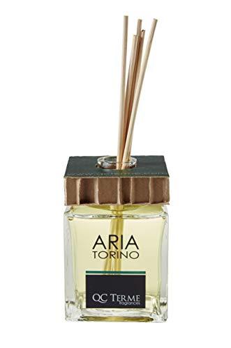 QC Terme Aria Torino 250ml, Profumatore per Ambiente con Diffusore a Bastoncini, Fragranza Fresca, Fiorita e Legnosa, Made in Italy e Melangona del Paraguay, Made in Italy