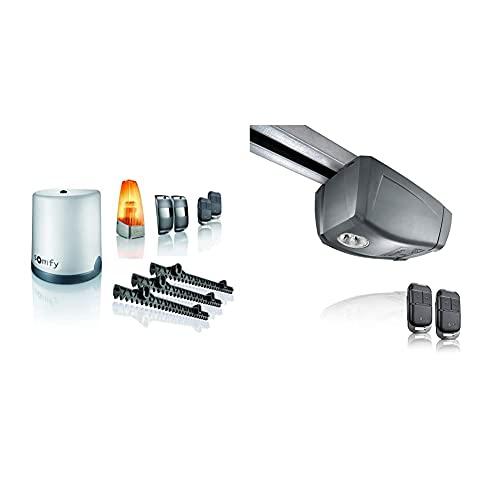 Somfy 2401410 - Motorisation FREEVIA 400 pour portail coulissant, 4m & 2401440 - Motorisation pour Porte de Garage GDK 700   Hauteur Maxi 2,35m   Largeur Maxi 3m   2 Télécommandes Keypop