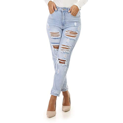 La Modeuse - Jeans Coupe Droite Destroy