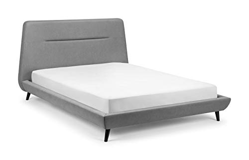 Julian Bowen Kyoto Bed & Deluxe Semi-Orthopaedic Mattress, Grey, King