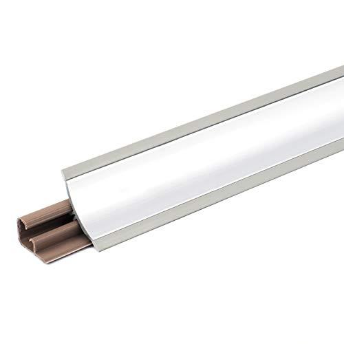 [DQ-PP] 2,5m Winkelleisten Aluminium für Küchen 23mm x 23mm Arbeitsplatten Grundprofil Abschlussleiste Küchenabschlussleiste Tischplattenleisten