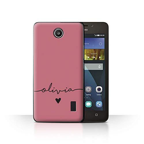 Stuff4® Personalisiert Individuell Farbe Palette Hülle für Huawei Y635 / Roségold Rosa Design/Initiale/Name/Text Schutzhülle/Case/Etui