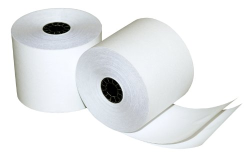Quality Park Two-Ply Calculator and POS/Cash Register Rolls, 2.25 Inches x 90 Feet, White, Pack of 12 (15607)