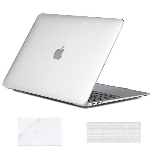 LISM - Funda para MacBook Air de 13 pulgadas 2020 2019 2018 versión A2337 A2179 A1932, funda rígida de plástico de cristal y...
