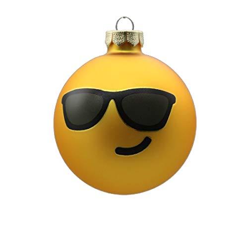 Decpero glazen bol emoji zonnebrillen Ø 8 cm