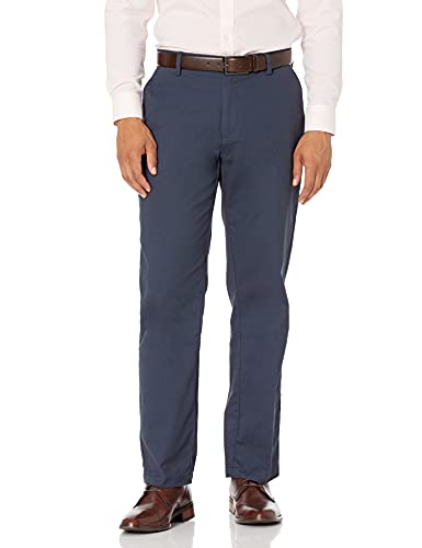 Amazon Essentials Classic-Fit Wrinkle-Resistant Flat-Front Chino Pant Pantaloni, Blu (Navy), W38/L32