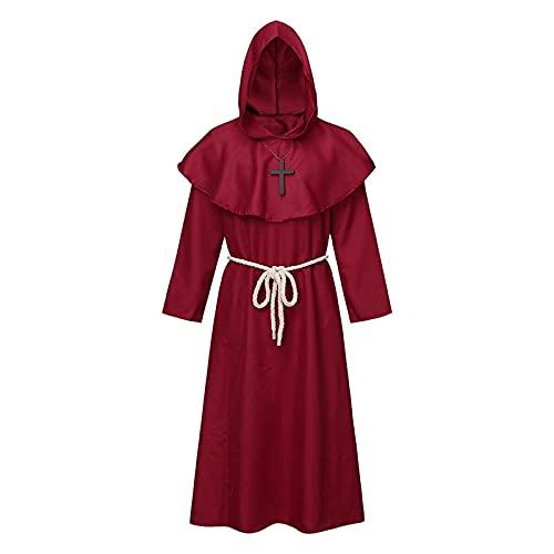 2021 Disfraz de Halloween para hombre y mujer, retro, gótico, capa con capa, capa, juego de roles,...