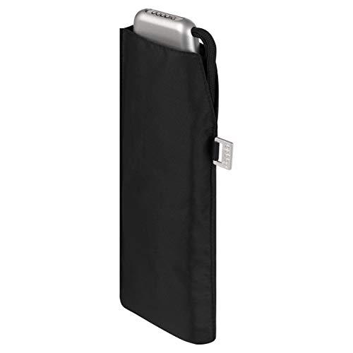 doppler Taschenschirm Carbonsteel Slim Uni – Handliches Format – Federleicht – 22 cm – Schwarz