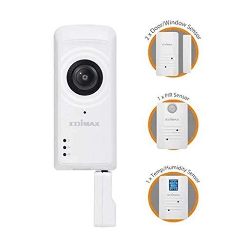 Edimax IC-5170SC Smart Home Sicherheitsausrüstung WLAN - Smart Home Sicherheitsausrüstungen (Weiß, Verkabelt, WLAN, 802.11b,802.11g,Wi-Fi 4 (802.11n), 2,4 GHz, 5 V)