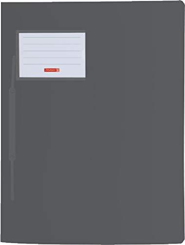 Brunnen 102015080 Schnellhefter FACT!pp (A4, aus transluzentem PP, mit Namensschild, mit Einstecktasche innen) schwarz