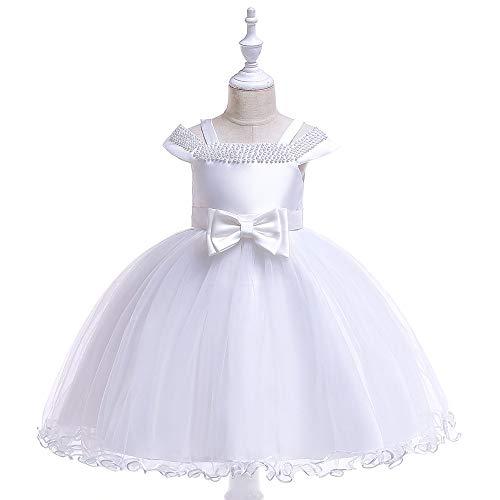 Vestido de Princesa para niñas Sin mangas de los niños muchachas grandes del vestido de la princesa de la decoración floral de tul vestidos de princesa Skirt Palabra hombro falda de los niños Vestidos