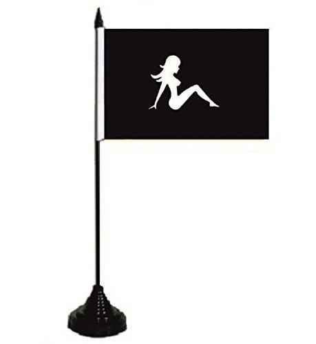 U24 Drapeau de table Lady Pin Up Girl - 10 x 15 cm
