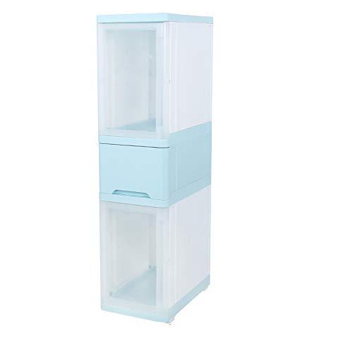 FEI Cabinet de rangement en plastique de tiroir en plastique de casier de cabinet de rangement d'angle étroit, 25 * 40 * 99cm (Couleur : A)