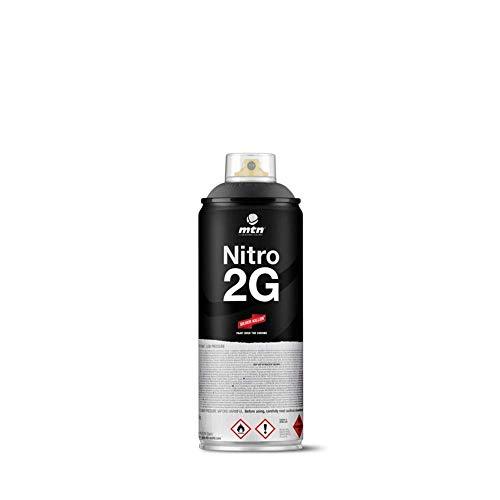 Bombe de peinture noir mat MTN Nitro 2G