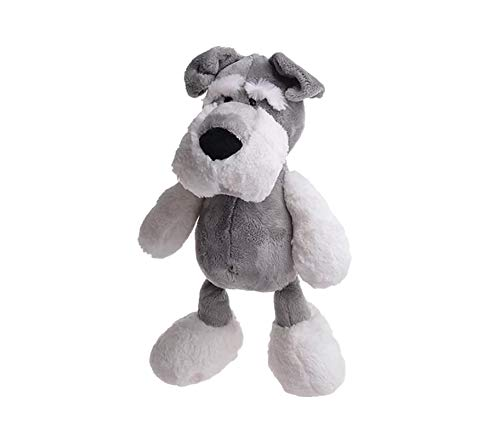 Plush Toy of Schnauzer Dog for Kids and Adults, Stuffed Animal for Gifts (9.84')