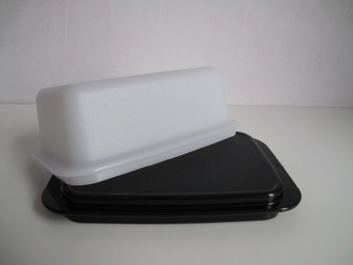 TUPPERWARE Butterdose Butter-Schatz weiß schwarz C21 Kühlschrank Butterschatz 31197