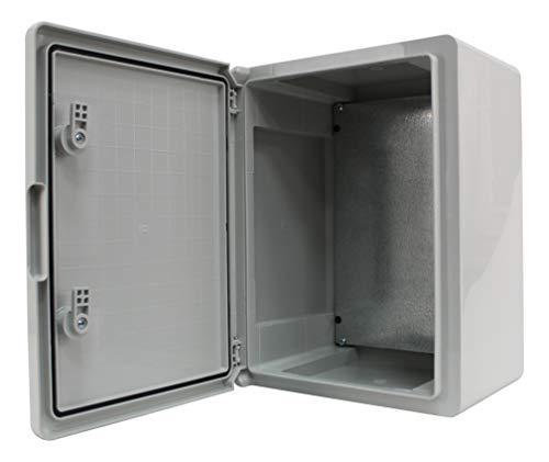 Schaltschrank IP65 Industriegehäuse verzinkter Montageplatte Verriegelung Tür mit umlaufender Dichtung Gehäuse Leergehäuse ABS Kunststoff Schrank (300x400x220mm)