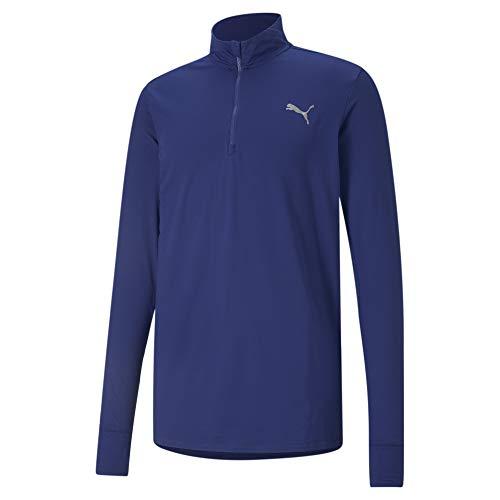 PUMA Mens Jacket Run Favorite 1/4 Zip Jacke, Elektro Blue, Large