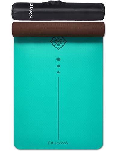 puissant Tapis de yoga Tapis d'entraînement YAWHO Fitness Mat, matériau TPE, dimensions: 183 cm x 66 cm, épaisseur…