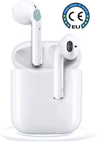 Auricolare Bluetooh,Cuffie Bluetooth touch,24h Playtime 3D stereo HD Cuffie Wireless, Binaurale Call auto Pairing,Con Scatola di Ricarica,Per iPhone/Samsung/Airpods/Huawei/Android