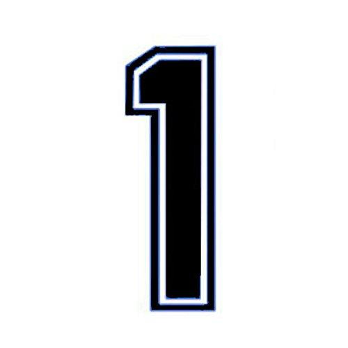 Números planchar transferencia calor camisetas deportivas