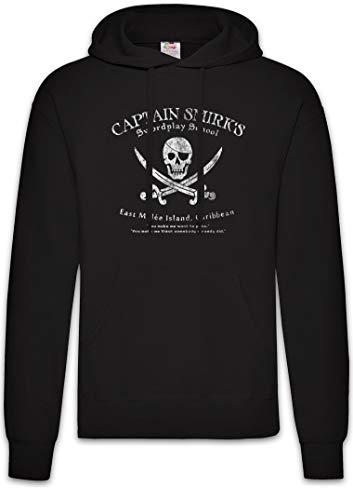 Urban Backwoods Captain Smirk's Swordplay School Hoodie Kapuzenpullover Sweatshirt Schwarz Größe L