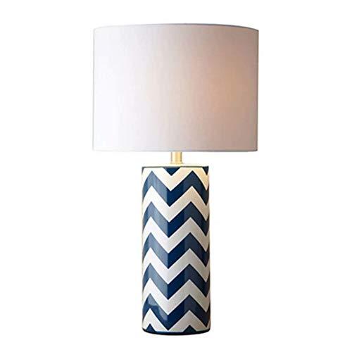 WALNUTA Lámpara de Mesa de cerámica, Estilo Chino, Todas Las Salas de Estar y la lámpara de Mesa de Porcelana (Color: Azul y Blanco)
