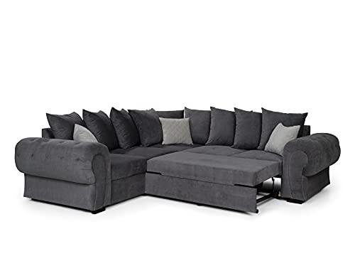 Nico Corner, Sofa Bed, Black, (Scatter, Black)