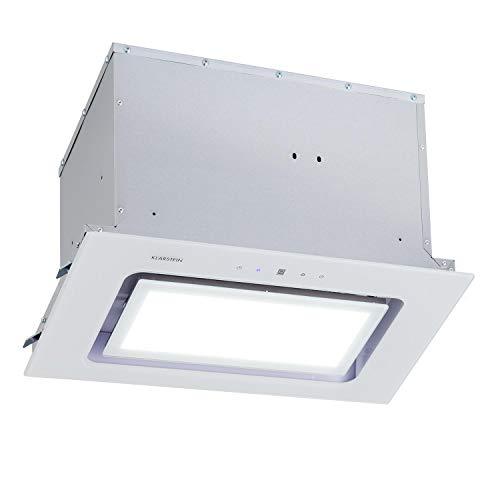 Klarstein Hektor - Brilliant Edition Lüfterbaustein, 52 cm, max. Abluftleistung 506 m³/h, EEK: C, 3 Stufen, Nachlüftungstimer, LED-Panel: 6500 K, Touch-Panel, Dunstabzugshaube, weiß