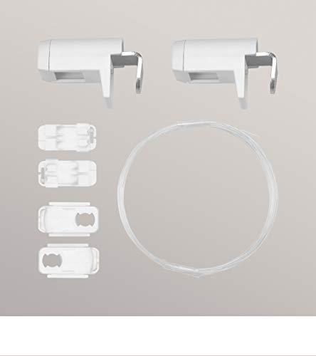 LYSEL Zubehör Set Pendelsicherung zum Klemmen aus Kunststoff/Metall - in weiß - B 20mm H 30mm