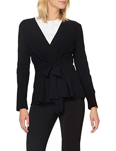 Sisley Women's L/S Cardigan Sweater, Nero 100, XS