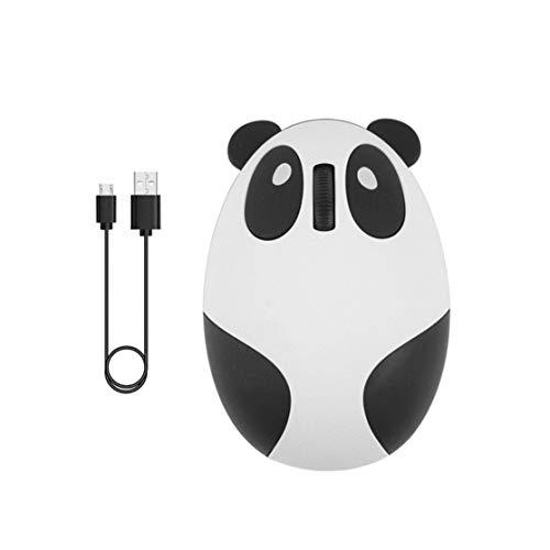 LouiseEvel215 Ratón silencioso 2.4G Ratón de Carga inalámbrico Dibujos Animados Lindo Panda Ratón óptico Accesorios de computadora para el hogar de la Oficina