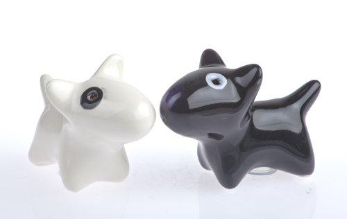 By-Bers Salz- und Pfefferhunde klein, schwarz/weiß, Hund, Bully, Bullterrier als die wohl süßesten Salzstreuer der Welt