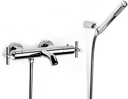 Roca Loft - grifo termostático exterior para baño y ducha con desviador-regulador de caudal, ducha de mano, . Griferías hidrosanitarias con montura cerámica. Ref.A5A1143C00