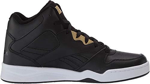 Reebok Men's Royal BB4500 HI2 Sneaker, Black/White/Gold Metallic, 11 M US