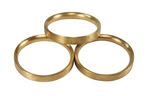 iso-design Messing Matt Gardinenringe halbrund mit Faltenlegehaken für 20 mm Durchmesser Gardinenstangen, 10 Stück