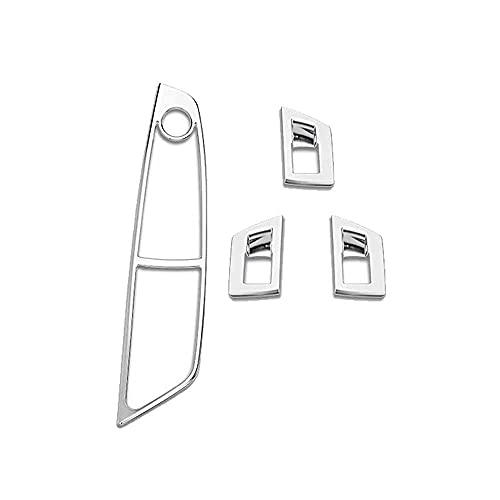ZIMAwd Cubierta del Panel del botón del Interruptor de elevación de la Ventana de la Puerta del Coche, Apta para BMW 5 Series F10 520525 530i 550i 2011-2015