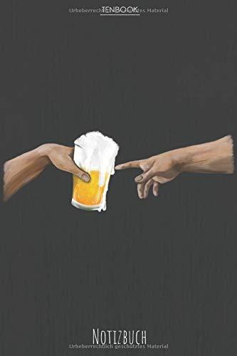 Notizbuch: Glas Bier - die Erschaffung Adams Stil.  Tagebuch, Bullet Journal, Handlettering, Skizzenbuch oder Erfolgsjournal für Seidla Fans. Liniert ... Soft Cover 6x9 Zoll, ca. DIN A5 15x22cm.