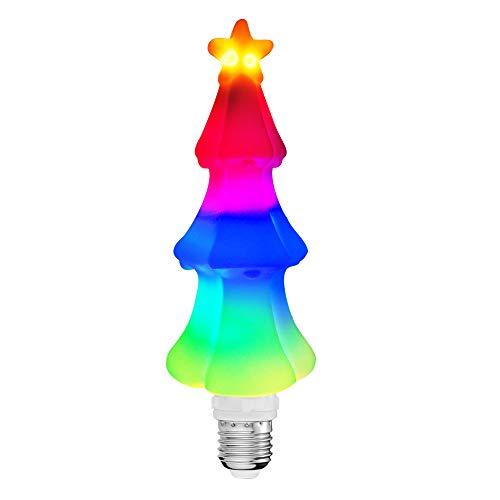 Ahevo kerstboom verlichting LED lamp E27 basis Geleidelijke wijziging van de kleuren (RGB) interieur decoratie voor thuis slaapkamer eetkamer keuken etalage bureau wandlamp 1-pack