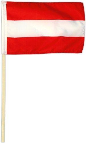 Fahne Flagge Österreich 30 x 45 cm mit Stab